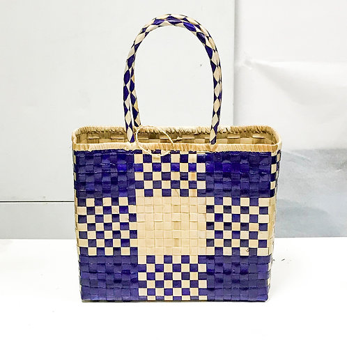 Lauhala Bag w/ Color Pattern Print #1