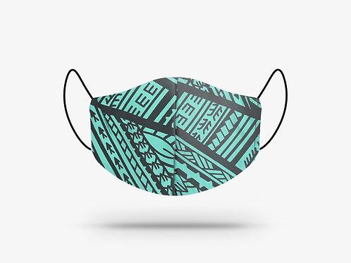 Poly Tatau Print Cotton Face Mask #9