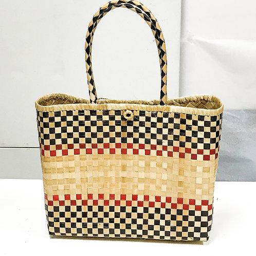 Lauhala Bag w/ Color Pattern Print #2
