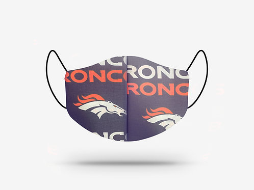 Denver Broncos Cotton Face Mask