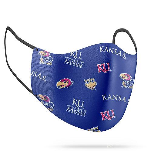 Kansas Jayhawks Cotton Face Mask