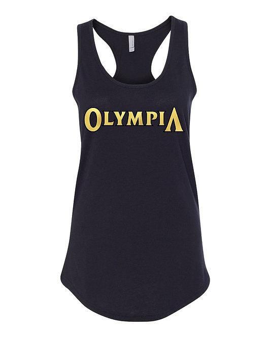 Black w/ Gold Olympia Tank Top