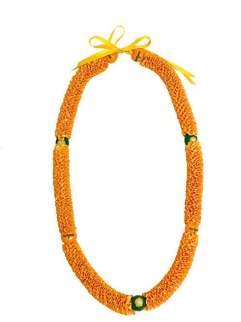 Yellow Matasaua Ilima with Kukui Nuts