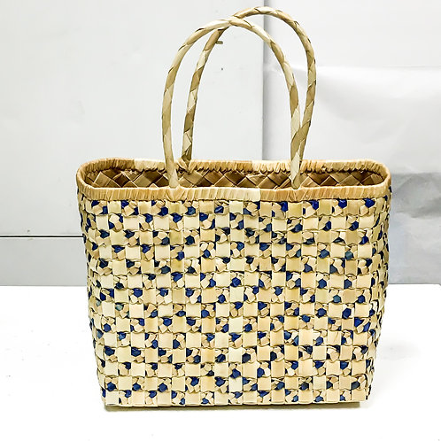 Lauhala Bag w/ Color Pattern Print #12