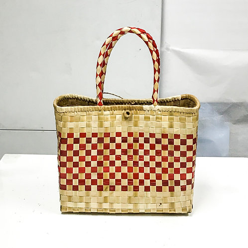 Lauhala Bag w/ Color Pattern Print #5
