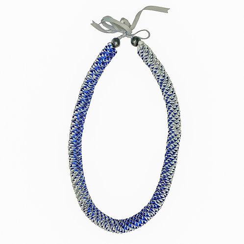 Royal Blue & Silver Ilima Lei
