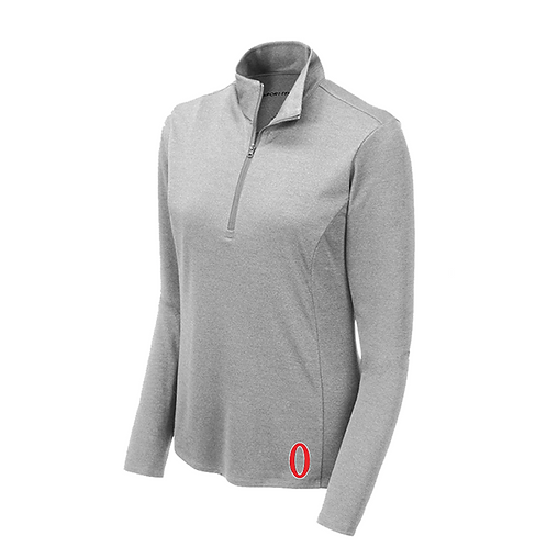 Olympia Women's Light Grey Heather 1/4-Zip Pullover