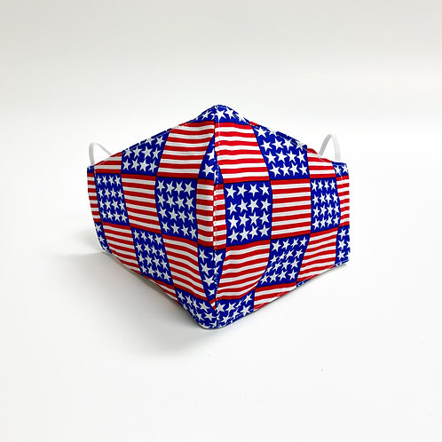 USA Stars & Stripes Face Mask