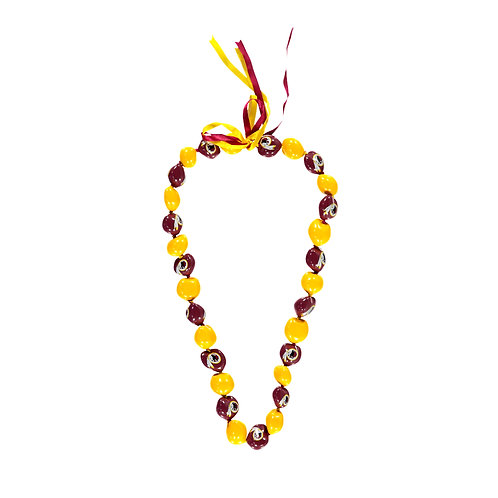 Washington Redskins Kukui Nut Lei