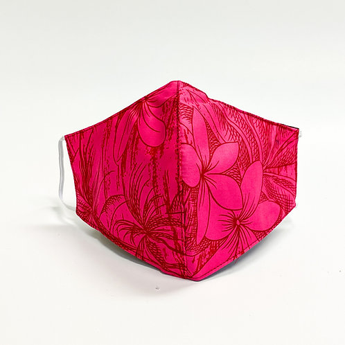 Pink Flower Print Face Mask