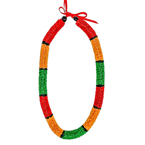 Tri Color Red, Yellow & Green Ilima Lei