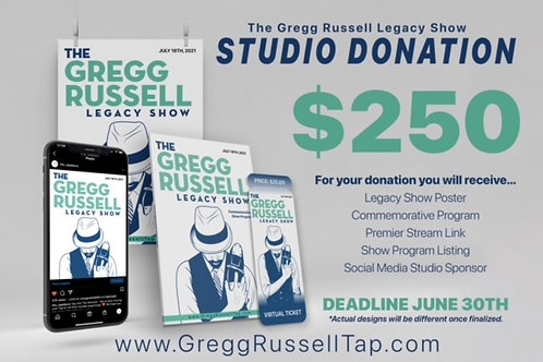 Gregg Russell Legacy Show Studio Donation $250