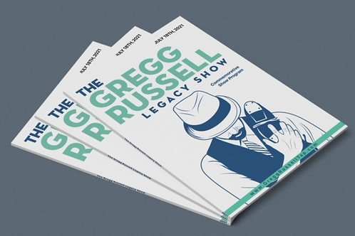 Gregg Russell Legacy Show Commemorative Program $20