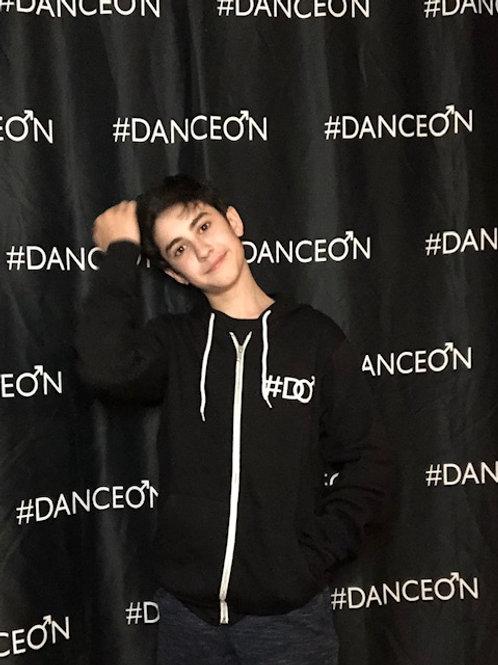 New DanceOn Logo Black Zip Up Hoodie