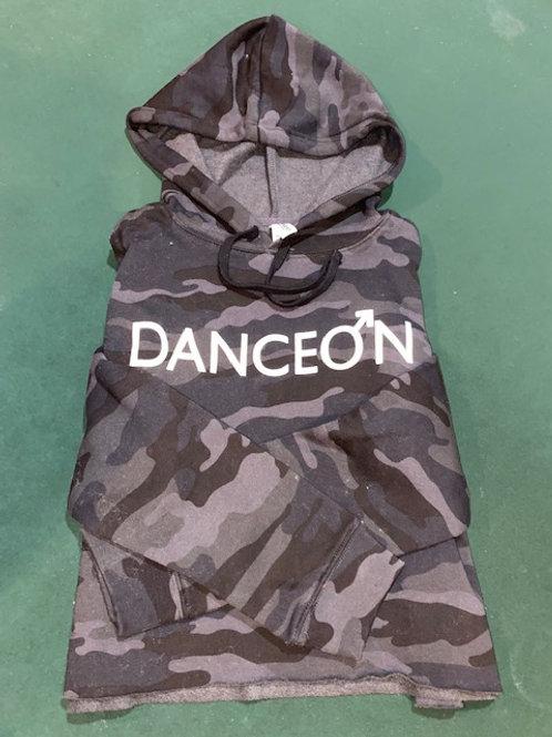 DanceOn Black Camo Half Hoodie