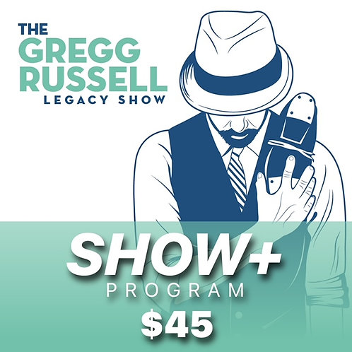 Gregg Russell Legacy Show Streaming Tickets/Program