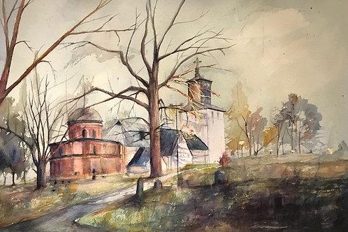 Spånga kyrka - 70x50 cm