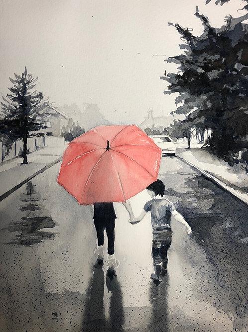 Regnig gata