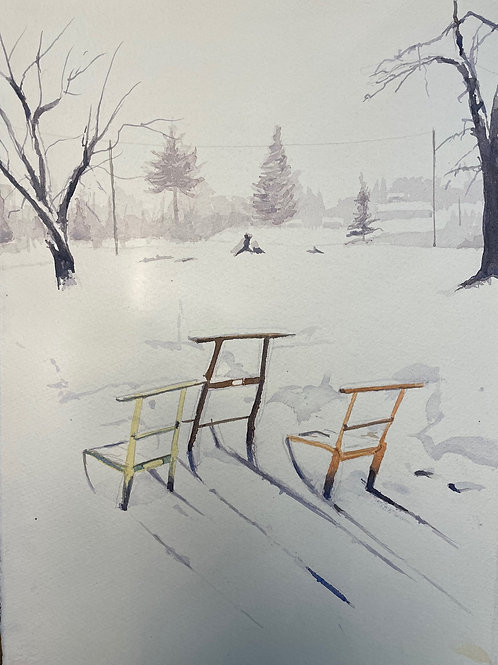 Sparkar i snön