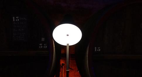 Zoom sur la lampe noire