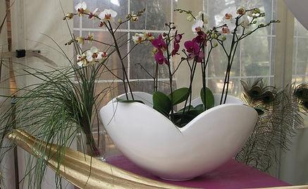 décoration florale buffet