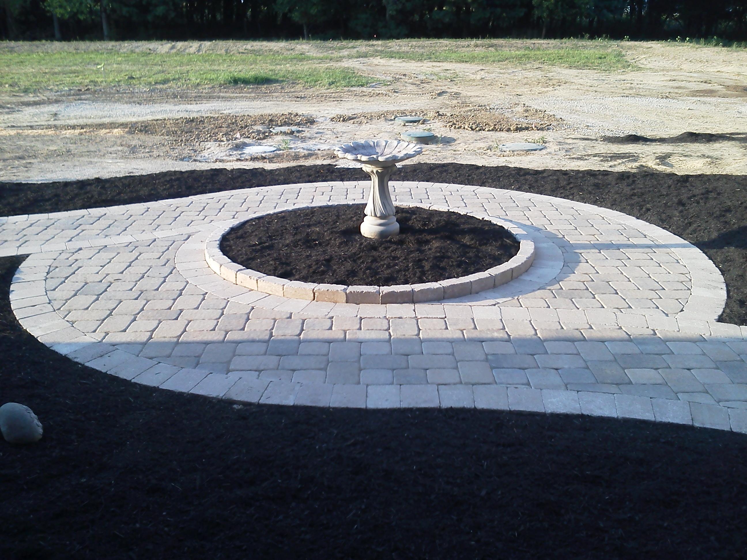 Detailed Garden Sidewalk