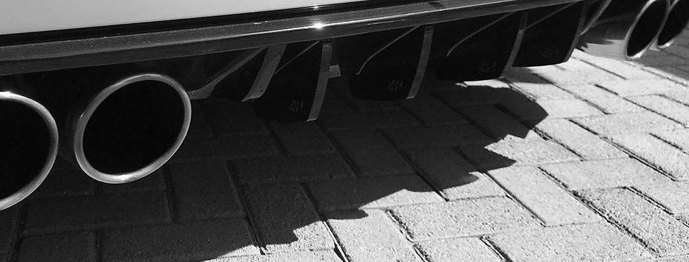 Golf 7R Rear Diffuser Fins