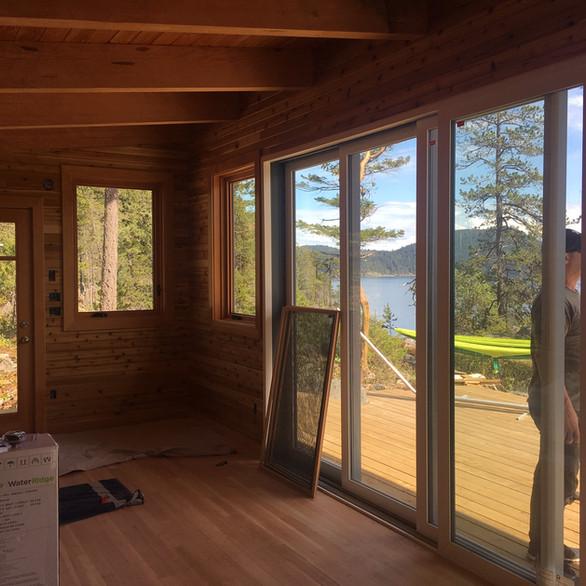 Cabin On The Bluff, Quadra Island