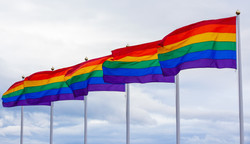Row of Pride flags