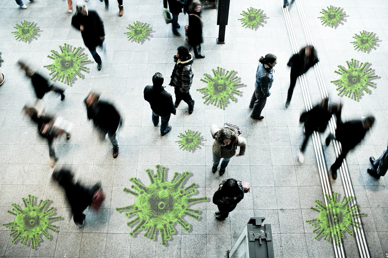 Social Distancing 2 metres apart