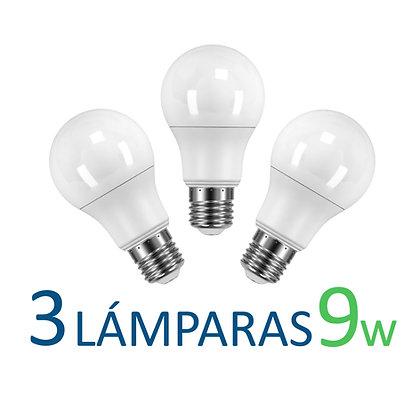 3 bulbos A60 - 9w