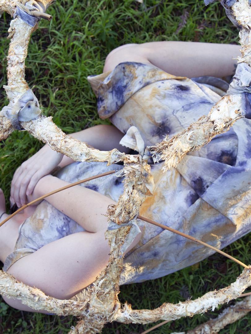 Mycelium Crinoline and Mushroom Dyes