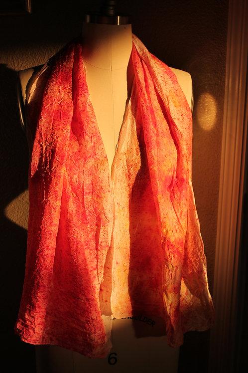 Pink Silk Ecoprint
