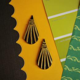 20s Inspired Dangle Polymer Clay Earrings