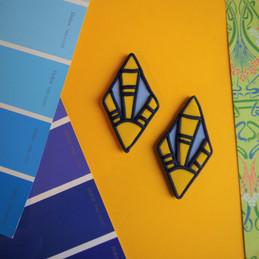 30s Inspired Dangle Polymer Clay Earrings