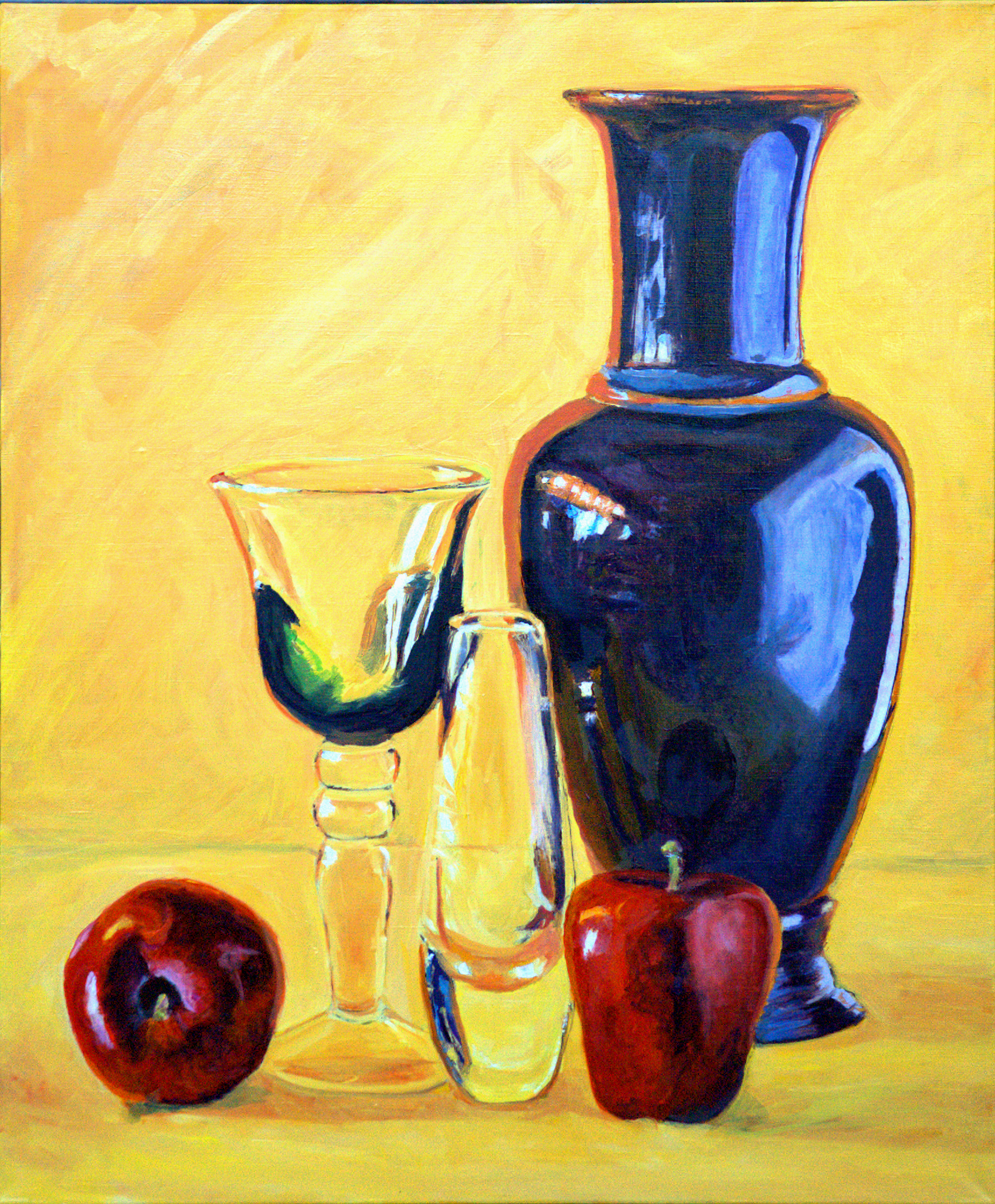 Still Life with Vase in Yellow