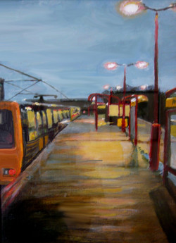 Metro Station At Dawn.