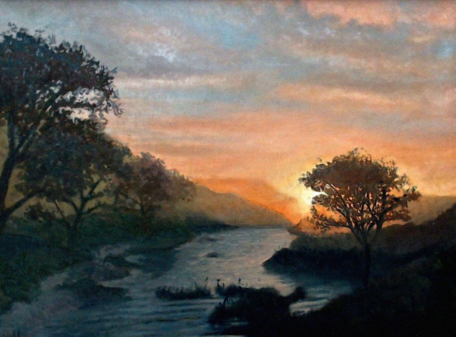 Sunset on a River