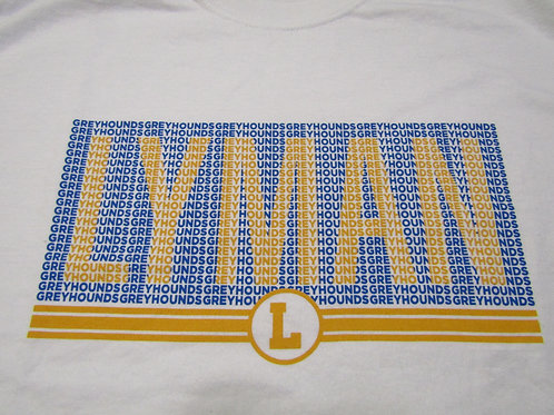 LYMAN Greyhounds Word Shirt - White