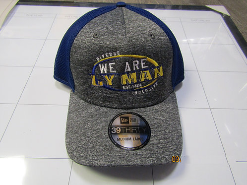 We Are Lyman Fitted Truckers Hat - Gray and Blue