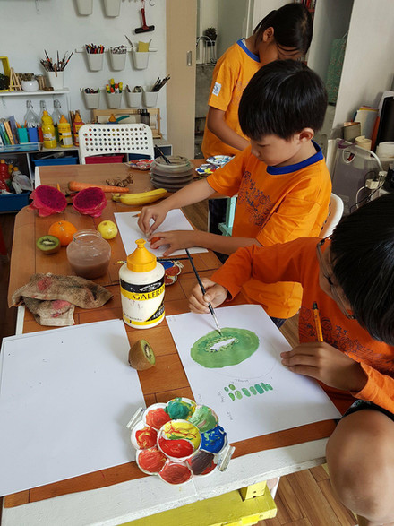 After School Art Classes Focusing on Colour