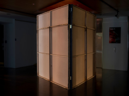 """""""On a Scale of 1-10"""" - Three Channel Sound Installation in Triangular Room"""