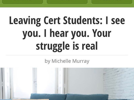 A lust For Life: Leaving Cert Students support