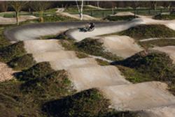 Pump track at Leeds UBP