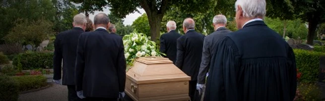 Here come the pallbearers—photo from Shutterstock