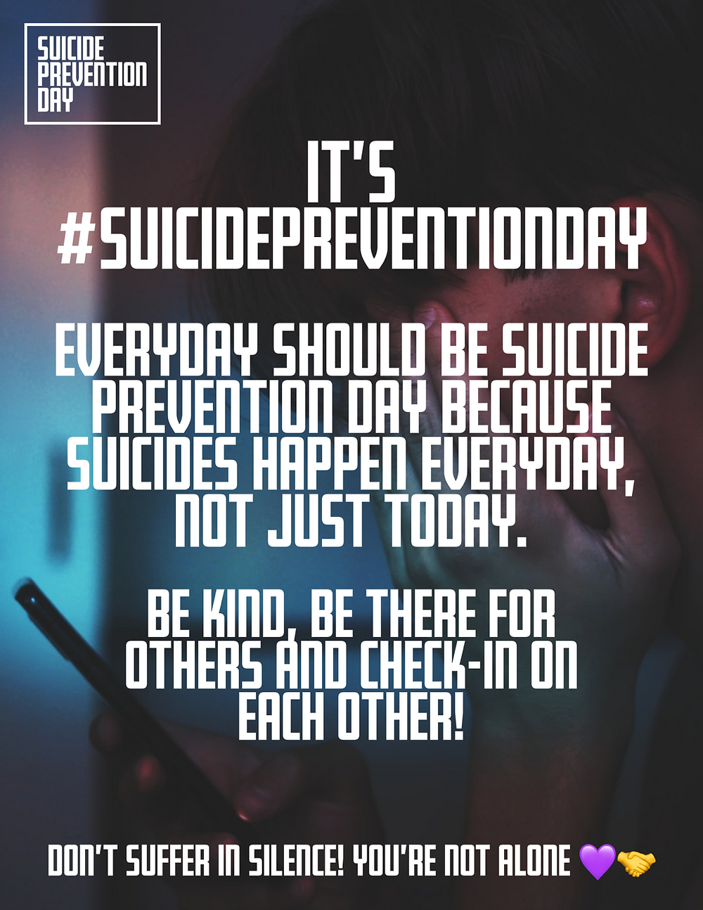 Joe Plumb World Suicide Prevention Day