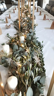 Décoration de mariage végétale