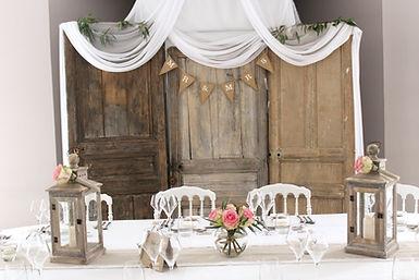 Décoration table d'honneur de mariage