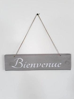 """Pancarte bois """" Bienvenue """""""