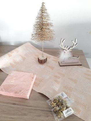 Pack  9 - Noël douceur rose Suédine & Paillettes